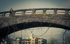 Nagasaki, Nigiwaibashi, tone arch bridge over the Nakashima River