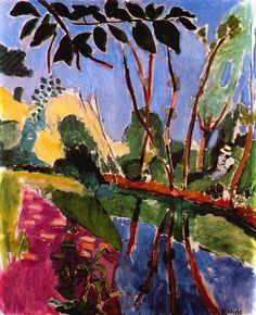 Matisse the river bank 1907 ♥ Inspirations, Idées & Suggestions, JesuisauJardin.fr, Atelier de paysage Paris, Stéphane Vimond Créateur de jardins ♥