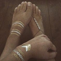 #FrockingJewels and #FlashTattoos   #anklet #boho #footjewels