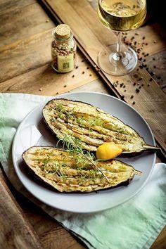Pečený lilek po středomořsku Korn, Grain Free, Eggplant, Plant Based, Grains, Low Carb, Vegetables, Cooking, Fit