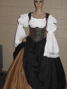 DDNJ U Design 4pc Reversible Corset Style Bodice Chemise Skirts Plus Custom Made Any Size Renaissance Anime Steampunk  Cosplay Pirate Gypsy on Etsy, $199.00