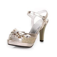 Womens Chunky Platform Peep Toe Heels ( 2 Colours )
