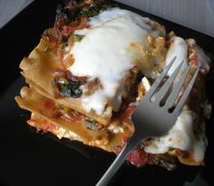 Get the recipe for a vegan lasagna made with two different kinds of vegan cheese - tofu ricotta and cashew mozzarella - both from scratch.