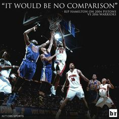 A confident RIP Hamilton's opinion on how his championship Piston team would fare against the current Golden State Warriors.