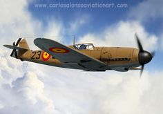 Messerschmitt Bf 109F-4 Ejército del Aire, Reus (Tarragona), 1943 Aviation Art, Fiat, Painting & Drawing, Planes, Fighter Jets, Digital Art, Gallery, Artwork, Airplanes