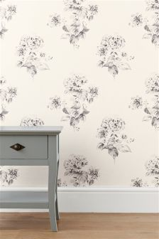 Hydrangea White Wallpaper