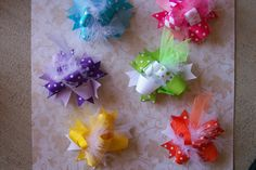 Spring Time Color Mix 6 Total BowsMini Funky by bowdaciousbows417, $35.94