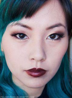 dark lips, shiro gold and burgundy