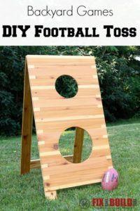 How to build a cornhole toss cornhole tossed and gardens diy football toss game solutioingenieria Choice Image