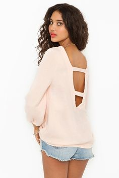Chaser cut out sweatshirt from NastyGal...How comfy and cute does this look?