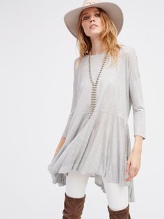 Milky Way Tunic | Irresistibly soft long sleeve tunic featuring a lightweight, semi-sheer fabrication. Flowy, oversized shape with dramatic side vents. Throw on as a cover-up over your favorite swimwear.