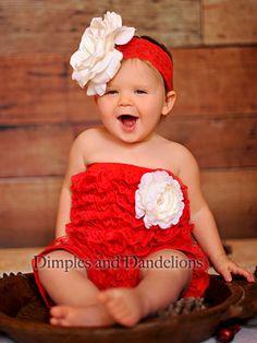 Red Romper w/ White Flower