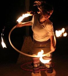Someday I will have a fire hula-hoop.  Someday...