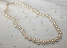 Light Ivory Vintage Glass Pearl Knotted Between by bellendesigns, $8.75