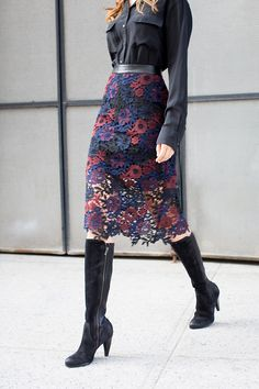 HIGH STYLE. The knee-high boot defines timeless style