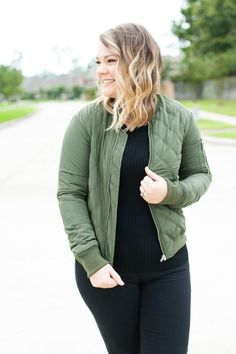 Bomber Jacket & New Hair www.ourmessytable.com