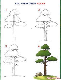 boom tekenen met kleuters