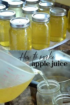 Learn the easy step by step process for canning homemade apple juice that is clear. Baby Food Recipes, Great Recipes, Easy Recipes, Recipe Ideas, Diy Projects For Kids, Diy For Kids, Homemade Apple Juice, Preserving Food, Yummy Eats