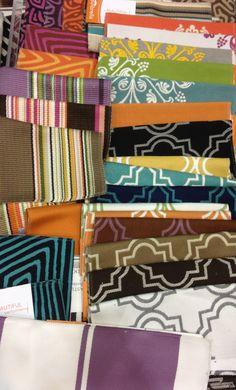 These indoor/outdoor Sunbrella fabrics are so fun! available at  fabriccopia.com