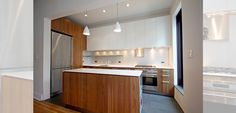 Carroll Street Kitchen  #walnut #stainlesssteel #modern