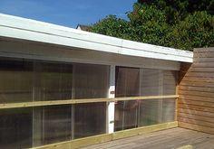 Polycarbonat-vindue i drivporten i min lille have