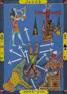 Nine of Swords - Kazanlar Tarot by Emil Kazanlar  (A törvénysék)