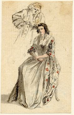 Paul Sandby, 1740-70, A lady and her hairdresser, British Museum, Nn,6.28.