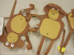 kindergarten monkeys from clever feather.  teaches shapes and paper manipulation.