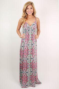 Bronzed in Tahiti Maxi Dress in Pink