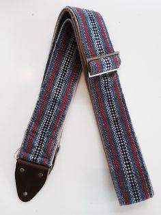 Original Fuzz - Peruvian Guitar Strap in Purple Stripes (Vintage Style) | Reverb