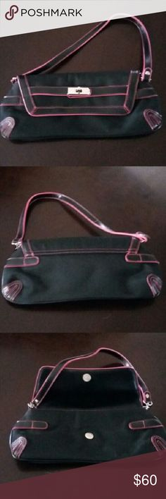 Sydney Love bag Sydney Love bag black and pink. Beautiful condition, not sure it has ever been used. Magnetic catch. Sydney Love  Bags Mini Bags