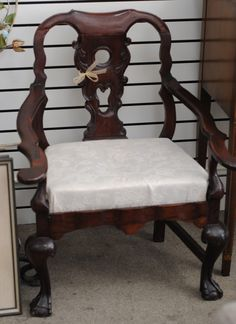 European Carved Ball & Claw C. Arm Chair - by Sarasota Estate Auction