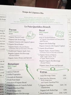 Le brunch semble très très bon !   Yelp   Le Pain Quotidien  4.0 star rating  Categories:       Breakfast & Brunch,  Belgian,  Bakeries,  French,  Caterers    (Organic, chain)   25 rue de Varenne, 75007 Paris  Neighborhoods: Musée d'Orsay, 7ème  +33 1 45 44 02 10  lepainquotidien.com  Nearest Transit Station: Rue du Bac, Sèvres - Babylone, Solférino  Hours: Mon-Sun 9 am - 8 pm Accepts Credit Cards: Yes  Price Range: €€