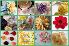 49 fabulous fabric flower tutorials on kojo designs Fabric Ribbon, Fabric Crafts, Sewing Crafts, Scrap Fabric, Faux Flowers, Diy Flowers, Fabric Flowers, Paper Flowers, Quilts