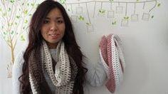 DIY: Easy 2 Color Scarf Crochet Tutorial, via YouTube.