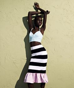 Bralet, £22, by topshop.com. Skirt, £495, by Mother of Pearl, from fenwick.co.uk. Photograph: Gustavo Papaleo for the Guardian. Styling: Priscilla Kwateng.