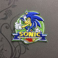 Sonic Patch Iron on Applique Embroidered Iron On Patch sew on patch Cartoon patch Game patch