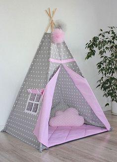 Teepee Kids Teepee Pink Tepee Tipi for Girls Tipi tent for Kids Tents, Teepee Kids, Teepee Tent, Indian Teepee, Childrens Teepee, Trendy Baby, Diy Wall, Girls Bedroom, Diy Design