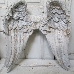 Large angel wings wall sculpture silvery by AnitaSperoDesign, $284.00