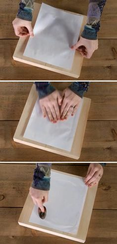 Depois, aplique a imagem sobre a superfície que você quer transferi-la, pressionando levemente a folha. Para que o processo tenha um melhor acabamento, você pode também usar uma colher. Deixe secar por, no mínimo, 8 horas.