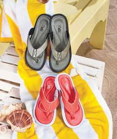 The Women's Memory Foam Comfort Sandals are a super comfortable addition to your casual footwear. Perfect for spring and summer, these thong-style sandals feature memory foam insoles that offer comfort for everyday wear. Rubber soles provide resistance o