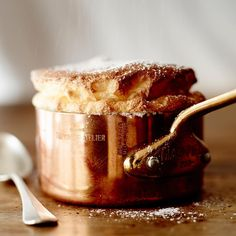 The Cook's Atelier, Beaune, France Souffle baked in a mini Mauviel sauce pot/butter warmer
