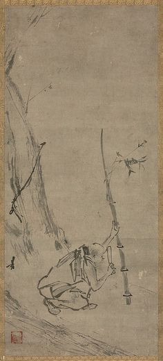 Painted by Liang Kai (梁楷, c.1140-1210).
