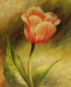 Single-Pink-Rose-Hand-Painted-Oil-Painting-on-Canvas-20-034-x-24-034