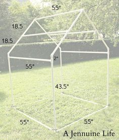 Childrens Playhouse Plans 439241769907095465 - PVC Playhouse & Sunshade: PVC Frame by Jennifer on July 2013 in DIY, PVC Playhouse, Tutorial Today I have the first installment of the … Source by CrapuchePilou Pvc Playhouse, Playhouse Outdoor, Outdoor Play, Playhouse Plans, Childrens Playhouse, Pvc Fort, Pvc Pipe Projects, Kids Tents, Diy Greenhouse