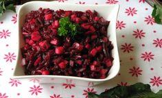 """Legendárny ukrajinsky šalát """"vinigret""""na chudnutie: Dajte si ho namiesto zemiakov a ryže – je výborný a chudne sa po ňom! Cottage Cheese, Feta, Salads, Food And Drink, Fruit, The Fruit, Salad, Chopped Salads"""