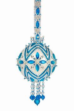 Southwest (White Iris ball with Teal and Crystal Accents)  kit $43.20