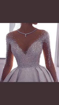 71 illusion long sleeve wedding dresses you'll like 8 Wedding Gowns With Sleeves, Long Wedding Dresses, Princess Wedding Dresses, Bridal Dresses, Dresses With Sleeves, Gown Wedding, 1920 Dresses, Wedding Bride, Modest Wedding