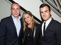 Star Tracks: Wednesday, July 16, 2014 | ABOUT FACE | They've got it covered! Jennifer Aniston and fiancé Justin Theroux cozy up to Details editor Dan Peres (left) at a Tuesday party at West Hollywood's Sunset Tower Hotel celebrating the mag's August issue, which features the actor on the cover.
