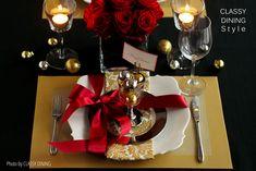 Christmas table settings - クリスマステーブルコーディネート